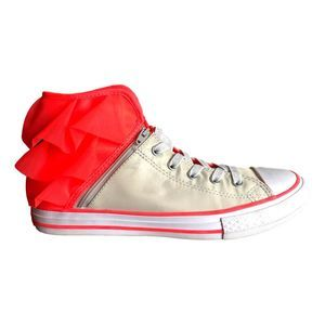 Converse Off White and Pink Size 5